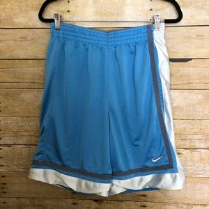 Nike Basketball Blue & Gray Reversible Shorts